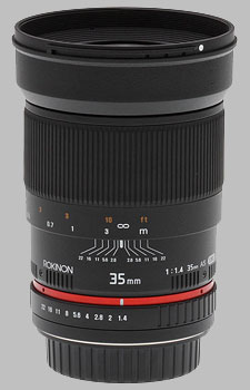 image of the Samyang/Rokinon 35mm f/1.4 AS UMC lens