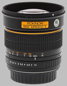 image of the Samyang/Rokinon 85mm f/1.4 AS IF UMC lens