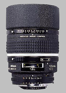 image of the Nikon 105mm f/2D AF DC Nikkor lens