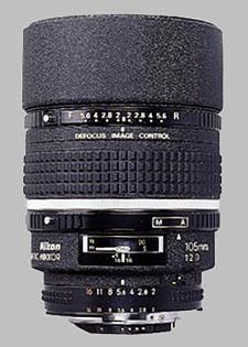 image of the Nikon 105mm f/2D AF DC Nikkor lens