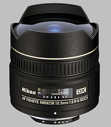 image of the Nikon 10.5mm f/2.8G ED AF DX Fisheye Nikkor lens