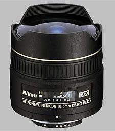 image of the Nikon 10.5mm f/2.8G ED AF DX Fisheye Nikkor lens