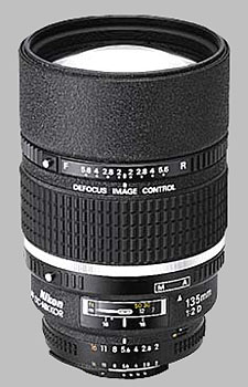 image of the Nikon 135mm f/2D AF DC Nikkor lens