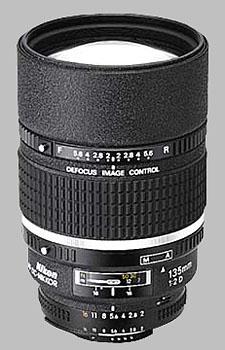 image of the Nikon 135mm f/2D AF DC Nikkor lens