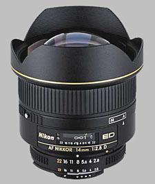 image of the Nikon 14mm f/2.8D ED AF Nikkor lens