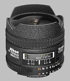 image of the Nikon 16mm f/2.8D AF Fisheye Nikkor lens