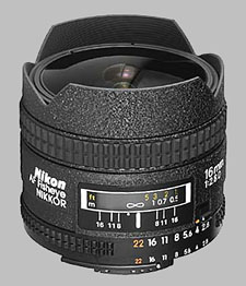 image of the Nikon 16mm f/2.8D AF Fisheye Nikkor lens