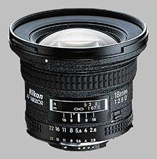 image of the Nikon 18mm f/2.8D AF Nikkor lens