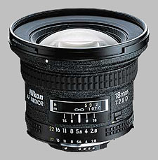 image of the Nikon 18mm f/2.8D AF Nikkor lens