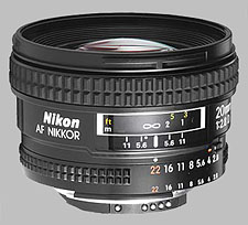 image of the Nikon 20mm f/2.8D AF Nikkor lens