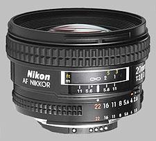 image of the Nikon 20mm f/2.8D AF Nikkor lens