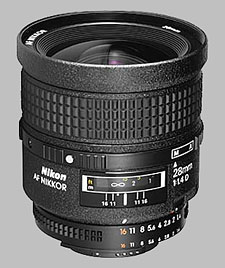 image of the Nikon 28mm f/1.4D AF Nikkor lens