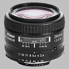 image of the Nikon 28mm f/2.8D AF Nikkor lens