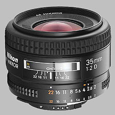 image of the Nikon 35mm f/2D AF Nikkor lens