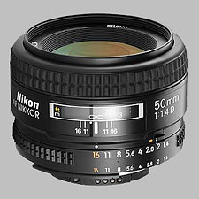 image of the Nikon 50mm f/1.4D AF Nikkor lens