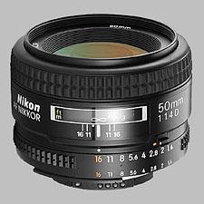 image of the Nikon 50mm f/1.4D AF Nikkor lens