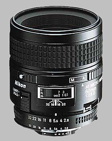 image of the Nikon 60mm f/2.8D AF Micro Nikkor lens