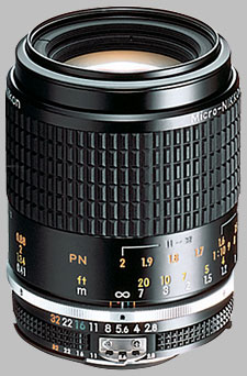 image of the Nikon 105mm f/2.8 AIS Micro-Nikkor lens