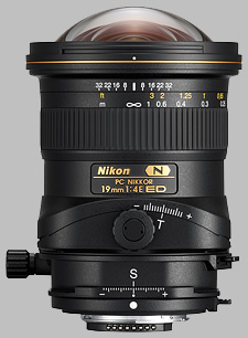 image of the Nikon 19mm f/4E ED PC Nikkor lens