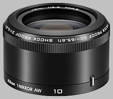 image of the Nikon 1 10mm f/2.8 AW Nikkor lens