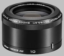 image of the Nikon 1 10mm f/2.8 AW Nikkor lens