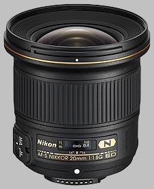 image of the Nikon 20mm f/1.8G ED AF-S Nikkor lens