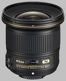 image of the Nikon 20mm f/1.8G ED AF-S Nikkor lens