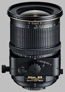 image of the Nikon 24mm f/3.5D ED PC-E Nikkor lens