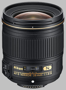 image of the Nikon 28mm f/1.8G AF-S Nikkor lens