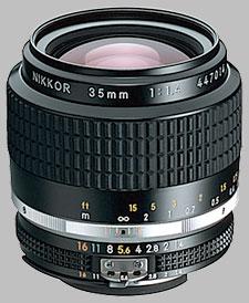 image of the Nikon 35mm f/1.4 AIS Nikkor lens