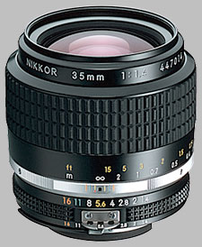 image of the Nikon 35mm f/1.4 AIS Nikkor lens