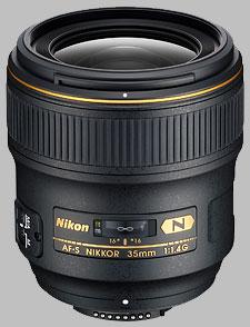 image of the Nikon 35mm f/1.4G AF-S Nikkor lens