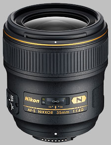 image of the Nikon 35mm f/1.4G AF-S Nikkor lens
