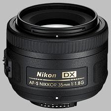 image of the Nikon 35mm f/1.8G DX AF-S Nikkor lens