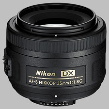 image of the Nikon 35mm f/1.8G DX AF-S Nikkor lens