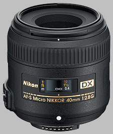 image of the Nikon 40mm f/2.8G DX AF-S Micro Nikkor lens