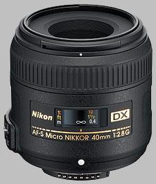image of the Nikon 40mm f/2.8G DX AF-S Micro Nikkor lens