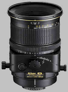 image of the Nikon 45mm f/2.8D ED PC-E Micro Nikkor lens