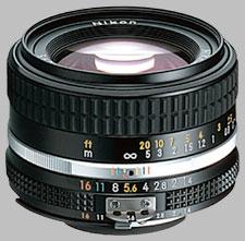 image of the Nikon 50mm f/1.4 AIS Nikkor lens