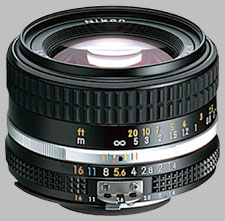 image of the Nikon 50mm f/1.4 AIS Nikkor lens