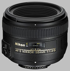 image of the Nikon 50mm f/1.4G AF-S Nikkor lens