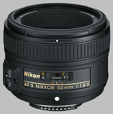 image of the Nikon 50mm f/1.8G AF-S Nikkor lens