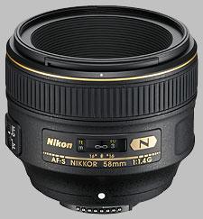 image of the Nikon 58mm f/1.4G AF-S Nikkor lens