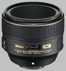 image of the Nikon 58mm f/1.4G AF-S Nikkor lens