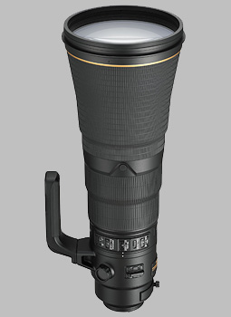 image of the Nikon 600mm f/4E FL ED AF-S VR Nikkor lens