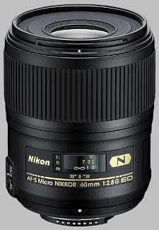 image of the Nikon 60mm f/2.8G ED AF-S Micro Nikkor lens