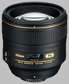 image of the Nikon 85mm f/1.4G AF-S Nikkor lens
