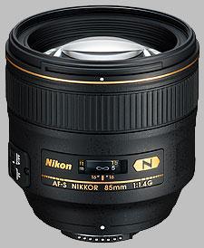 image of the Nikon 85mm f/1.4G AF-S Nikkor lens