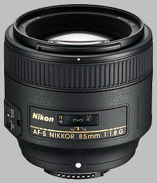 image of the Nikon 85mm f/1.8G AF-S Nikkor lens
