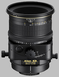 image of the Nikon 85mm f/2.8D PC-E Micro Nikkor lens